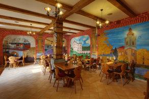 Dolní restaurace penzionu Hradní Bašta